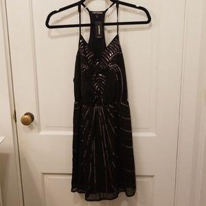 NWT black sequin mini dress